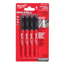 INKZALL Fine Tip Markers - 4pc